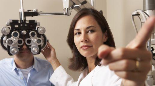 Eye exam photo